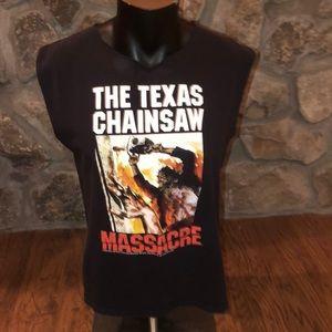 Retro thrashed Texas Chainsaw Massacre sleeveless